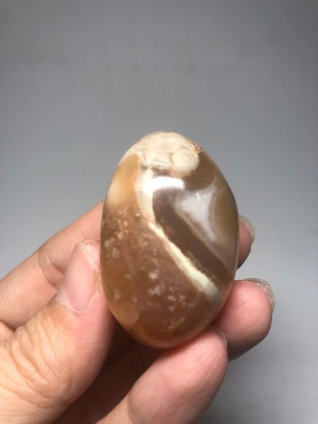 Flower Agate Palm Stones 52g
