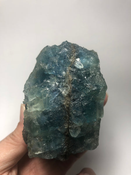 Blue Green Ladder Step Fluorite Raw Crystals 577g