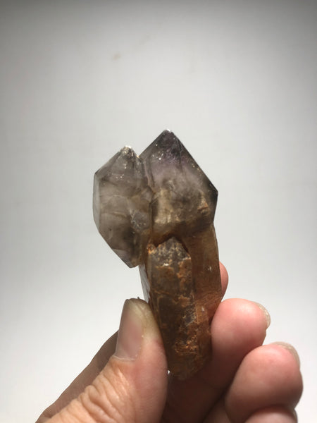 Smoky Amethyst Quartz Scepter with Phantom 58g