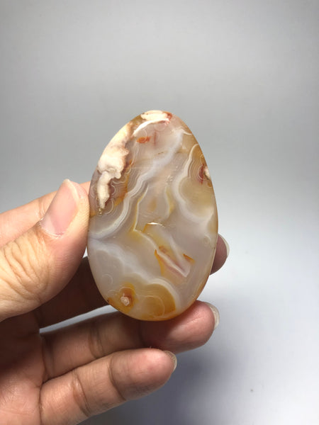 Flower Agate Palm Stones 61g