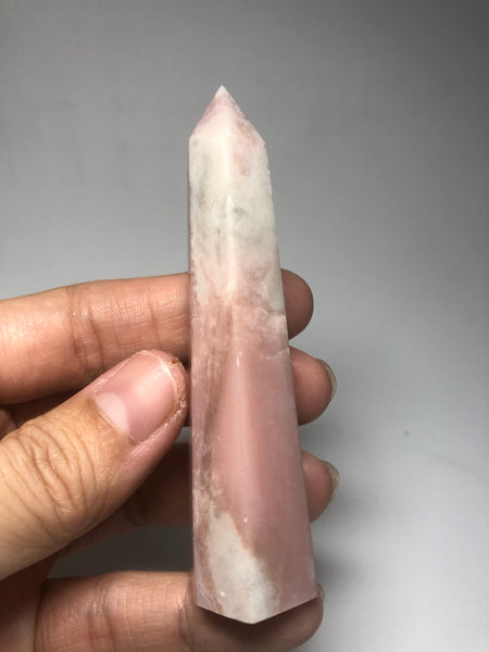 Pink Opal Crystals Point 67g