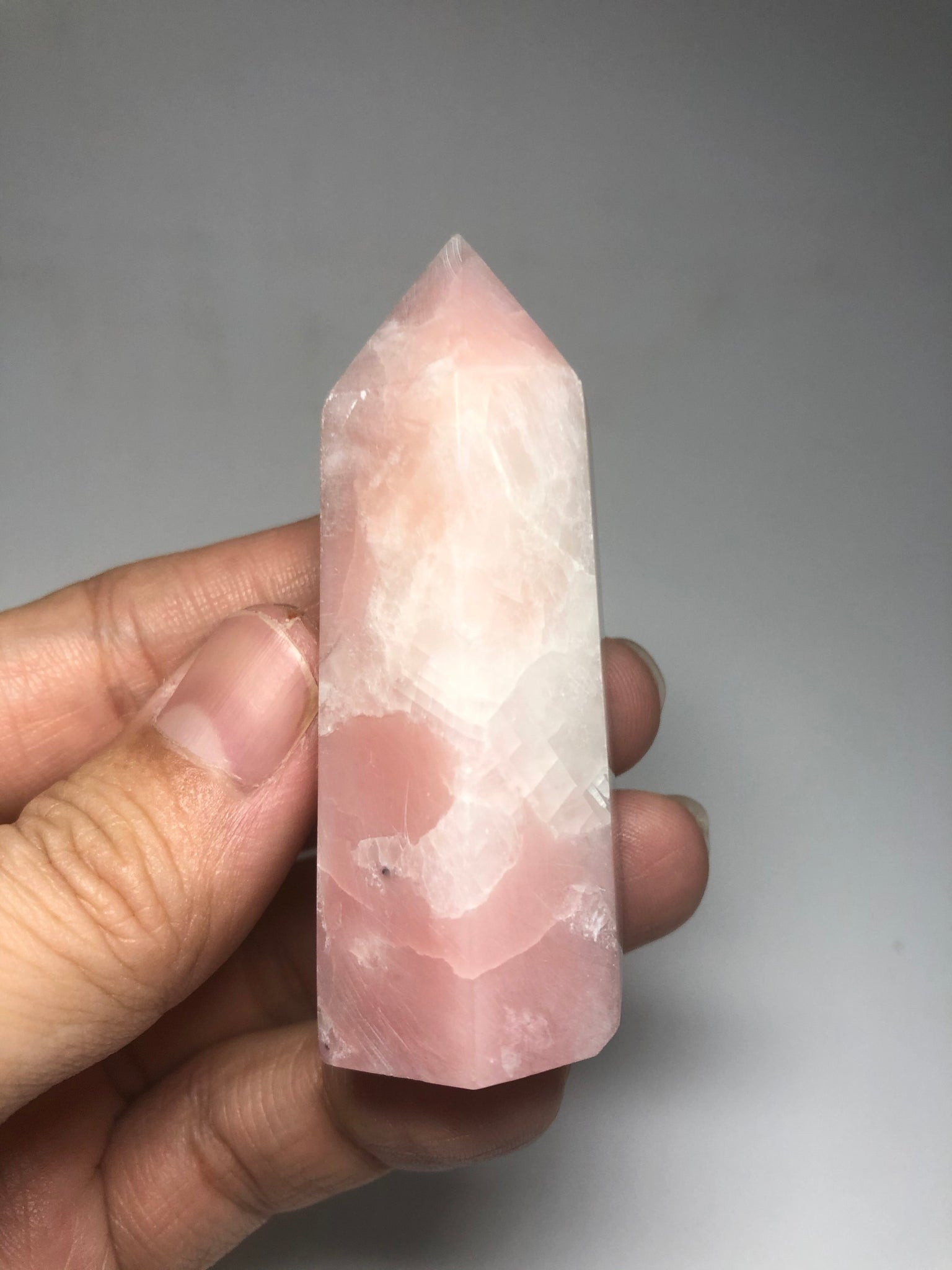 Pink Opal Crystals Point 74g