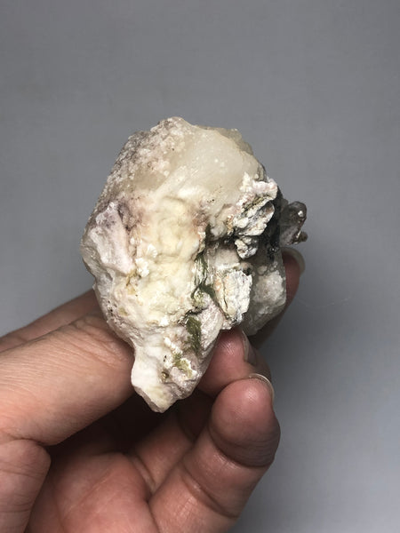 Green Apophyllite on Stilbite Raw Crystals 88g