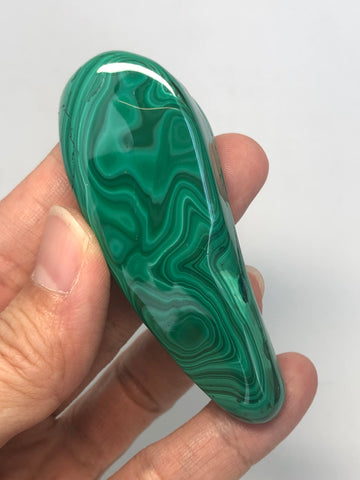 Malachite Polished Raw Crystals 89g