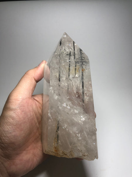 Tourmalinated Quartz Crystal Point 906g