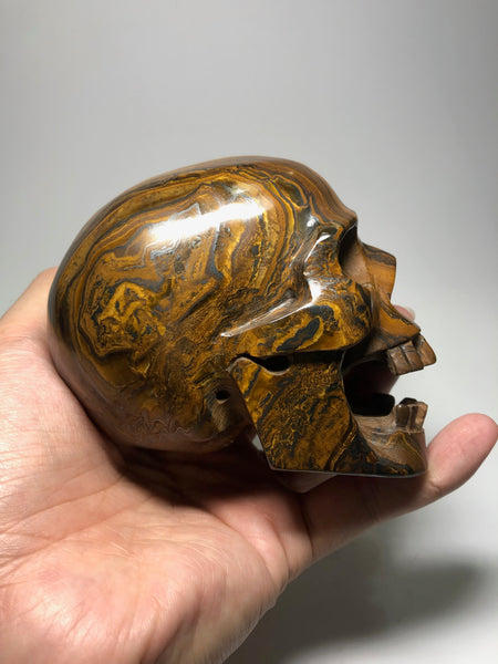 Tiger Eyes Crystal Skull 940g
