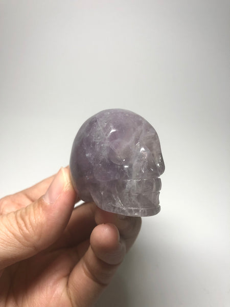 Purple Fluorite Crystal Skull 95g