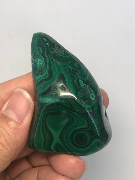 Malachite Polished Raw Crystals 98g
