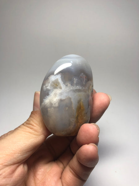 Flower Agate Palm Stones 99g