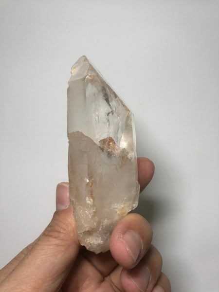 Pink Lithium Quartz Raw Crystals Point