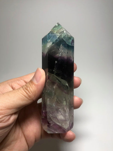 Rainbow Fluorite Crystals Point