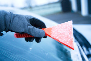 Stayhold ICE SCRAPER+SQUEEGEE showing top side