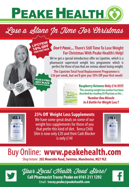 peake health, lipotrim, weight loss, xenca, diet, christmas