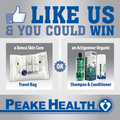 peake health, like, facebook, win, xenca, actigener