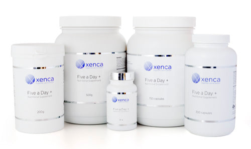 xenca, xenca 5 a-day, five a-day, 5 a day, peake health,