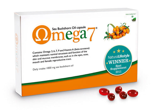 Omega 7 - Sea Buckthorn Oil (Omega-3, 6, 7 & 9) (60 Caps)