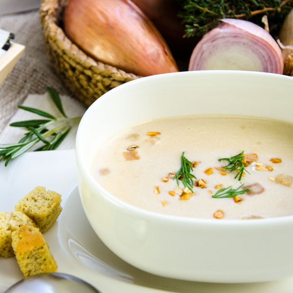 Low Fat Cream of Roast Onion Soup