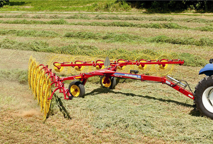 NEW HOLLAND 10 Wheel PROCART 1022 DELUXE CARTED WHEEL RAKE HAY/Kicker Wheel