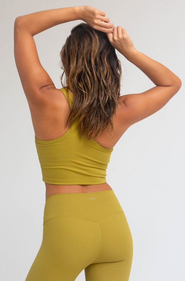 Noou Double Soft Racerback Crop Tank