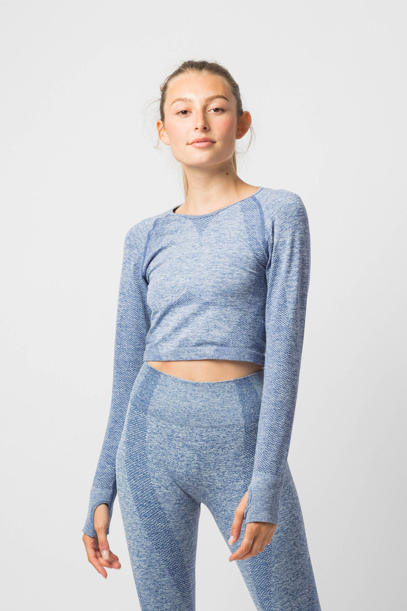 Noou Soft Heather Long Sleeve Set
