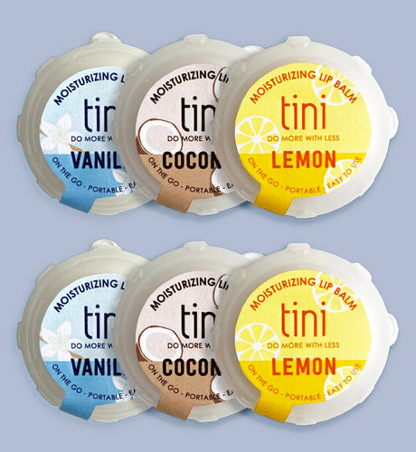 Tini 6 Pack Lip Balm