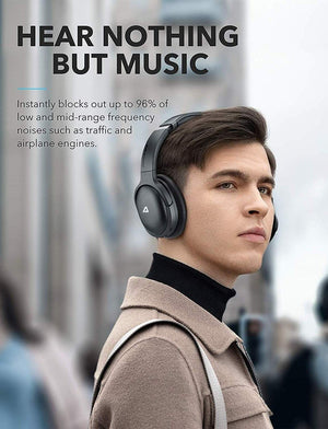 QuietOdio 10 Hybrid Active Noise Cancelling Headphones