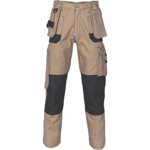 Duratex Cotton Duck Weave Tradies Cargo Pants with twin holster tool pocket 3337