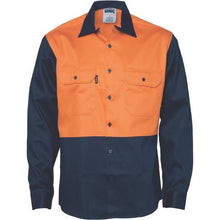 Load image into Gallery viewer, Patron Saint Flame Retardant Two Tone Drill Shirt - L/S 3406