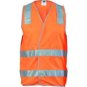 Day/Night Safety Vest with Hoop & Shoulder Reflective Tape 3503