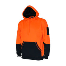 Load image into Gallery viewer, Hivis 2 tone super fleecy hoodie 3721