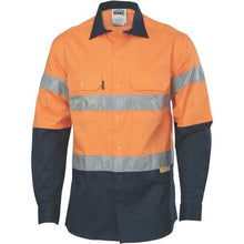 Load image into Gallery viewer, HiVis two tone drill shirt with 3M8906 Reflective Tape 3736