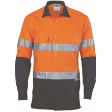 Load image into Gallery viewer, HiVis Day/Night Taped Cotton Drill Shirt - Long Sleeve 3536