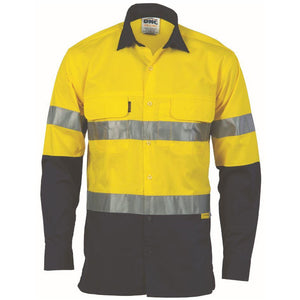 HiVis Day/Night Taped Cotton Drill Shirt - Long Sleeve 3536