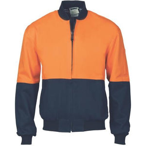 HiVis Two Tone Cotton Bomber Jacket 3757
