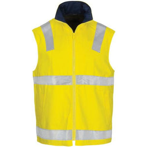 HiVis Cotton Drill Reversible Vest with Generic R/Tape 3765