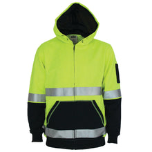 Load image into Gallery viewer, Hivis 2 tone full zip super fleecy hoodie with CSR Reflective tape - 3788