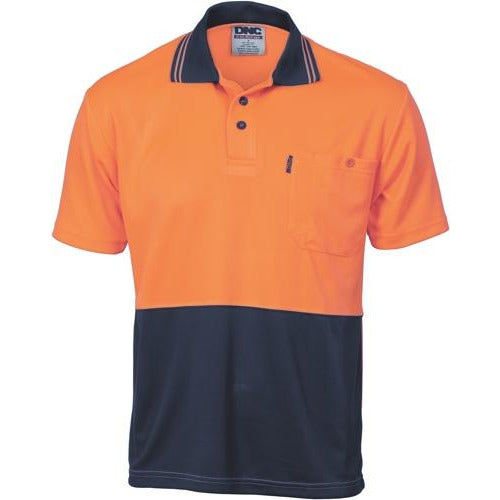 HiVis Two Tone Cool Breathe Polo Shirt - Short Sleeve 3811