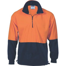 Load image into Gallery viewer, HiVis Two Tone 1/2 Zip Polar Fleece - 3825