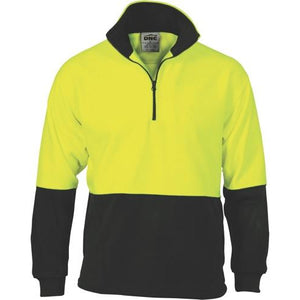 HiVis Two Tone 1/2 Zip Polar Fleece - 3825