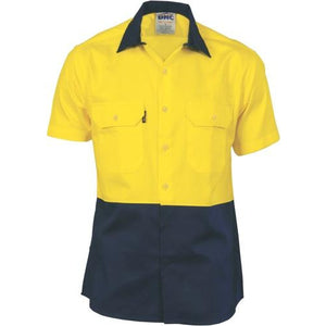 HiVis 2 Tone Cool-Breeze Cotton Shirt - Short Sleeve 3839