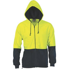 Load image into Gallery viewer, HiVis Two Tone Full Zip Polar Fleece Hoodie 3927