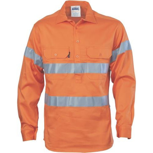 HiVis Cool-Breeze Close Front Cotton Shirt with Generic R/Tape 3945