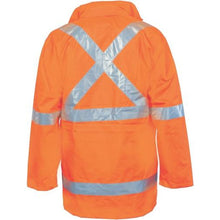 "Load image into Gallery viewer, HiVis Cross Back D/N ""6 in 1"" Rain Jacket 3999 (NSW RAIL O/N only)"