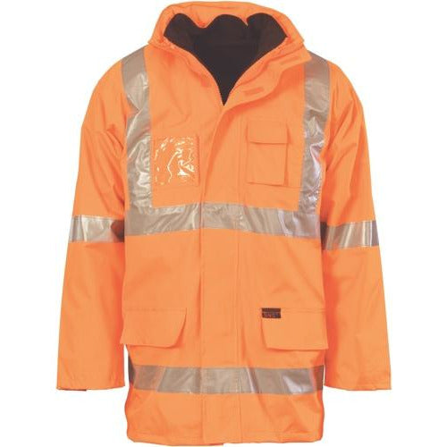 "HiVis Cross Back D/N ""6 in 1"" Rain Jacket 3999 (NSW RAIL O/N only)"