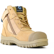 Load image into Gallery viewer, Bata Zippy Safety Boot Wheat 804-88841