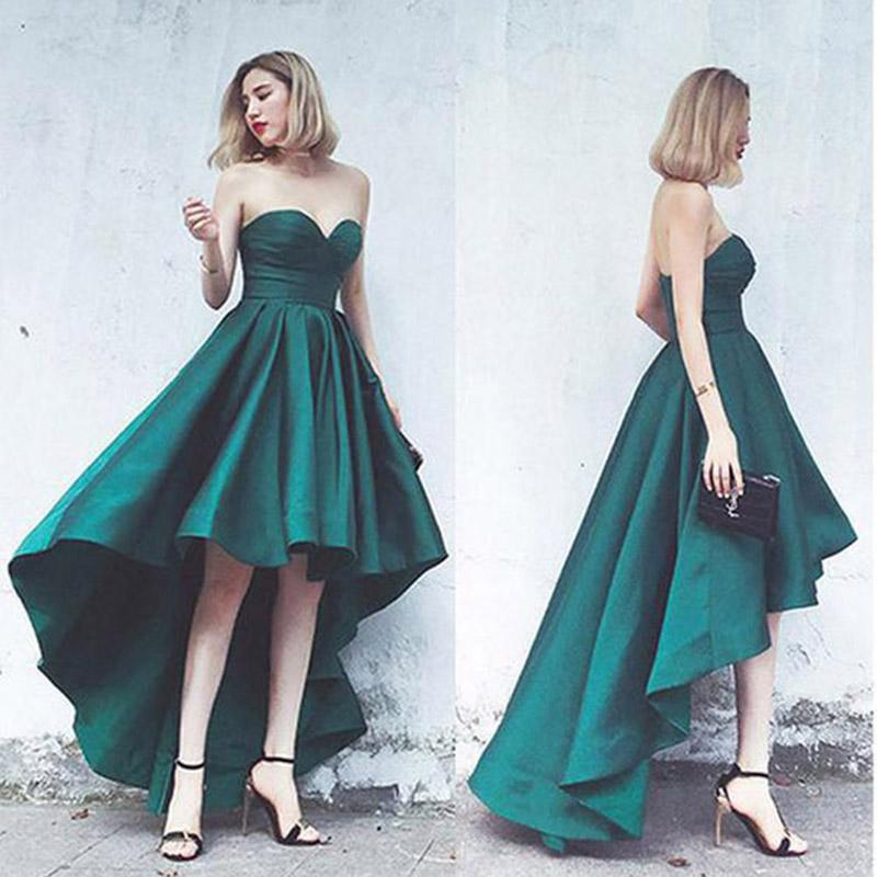 2019 Sweetheart A Line Evening Dresses Satin With