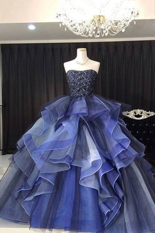 Strapless Quinceanera Dresses Tulle & Lace