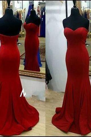 Pd61053 Charming Prom Dress Satin Prom Dress Mermaid Prom Dress Sweetheart Evening Dress