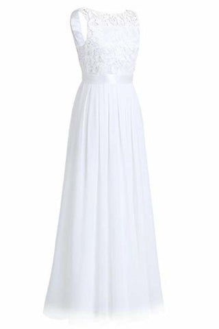 Wedding Bridesmaid Dress Chiffon Elegant Floor Length A
