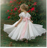2020 New Style Flower Girl Dress With  Bowknot